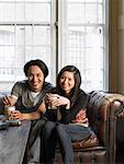 Couple at Restaurant    Stock Photo - Premium Rights-Managed, Artist: Masterfile, Code: 700-00643931