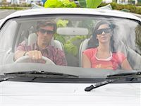 Couple in Car, Plants In Backseat    Stock Photo - Premium Rights-Managednull, Code: 700-00644020