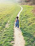 Child Walking on Path in Park    Stock Photo - Premium Rights-Managed, Artist: Matt Brasier, Code: 700-00644199