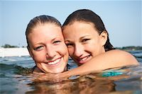 Girls in Water    Stock Photo - Premium Rights-Managednull, Code: 700-00651351