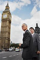 Businessmen Standing on Westminster Bridge, London, England    Stock Photo - Premium Rights-Managednull, Code: 700-00651757