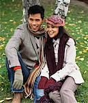 Couple Sitting on Grass    Stock Photo - Premium Rights-Managed, Artist: Masterfile, Code: 700-00661070