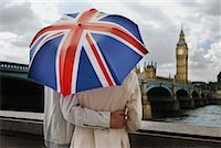 Couple With Umbrella, London, England    Stock Photo - Premium Rights-Managednull, Code: 700-00661371