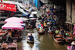 Floating Market, Thailand    Stock Photo - Premium Rights-Managed, Artist: Jeremy Woodhouse, Code: 700-00681070