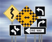 right - Traffic Signs    Stock Photo - Premium Rights-Managednull, Code: 700-00681245