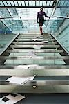 Businesswoman Reaching Top of Staircase    Stock Photo - Premium Rights-Managed, Artist: Masterfile, Code: 700-00681382