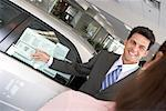 Car Salesman with Client