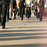 low section view of a group of people walking on the sidewalk Stock Photo - Premium Royalty-Free, Artist: Ron Fehling, Code: 618-00693446