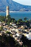 Coit Tower and San Francisco Bay, San Francisco, California, USA    Stock Photo - Premium Rights-Managed, Artist: Damir Frkovic, Code: 700-00695595