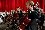Cellists Performing in an Orchestra Stock Photo - Premium Royalty-Free, Artist: Robert Harding Images, Code: 613-00708779
