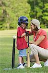 Mother Encouraging Son    Stock Photo - Premium Rights-Managed, Artist: Kevin Dodge, Code: 700-00711631