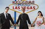 Wedding Ceremony by Sign, Las Vegas, Nevada, USA    Stock Photo - Premium Rights-Managed, Artist: Mark Leibowitz, Code: 700-00711861