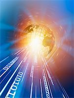 Wire Frame Globe and Binary    Stock Photo - Premium Rights-Managednull, Code: 700-00712078