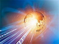 Wire Frame Globe and Binary    Stock Photo - Premium Rights-Managednull, Code: 700-00712082