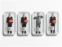 restrained - Businessmen in Packages, One Struggling to Get Out    Stock Photo - Premium Rights-Managednull, Code: 700-00712106