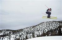 Skier Midair Stock Photo - Premium Royalty-Freenull, Code: 621-00730312