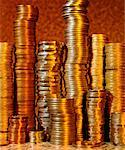 Piles of Coins Stock Photo - Premium Royalty-Free, Artist: Ron Fehling, Code: 621-00738451