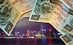 Hong Kong at Night with Dollar Border Stock Photo - Premium Royalty-Free, Artist: Paul Eekhoff, Code: 621-00738496