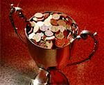Trophy Full of Coins Stock Photo - Premium Royalty-Free, Artist: Marc Simon, Code: 621-00738499