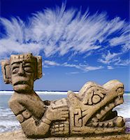 Chaac Mool in Cancun, Mexico Stock Photo - Premium Royalty-Freenull, Code: 621-00739792