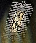 Close Up of Microchip Stock Photo - Premium Royalty-Free, Artist: CulturaRM, Code: 621-00739954