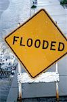Flood Sign Stock Photo - Premium Royalty-Free, Artist: Guy Grenier, Code: 621-00740016