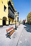 Bench In Plaza de Armas, Lima, Perus Stock Photo - Premium Royalty-Free, Artist: Aurora Photos, Code: 621-00740797