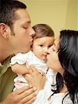 Hispanic family indoors Stock Photo - Premium Royalty-Free, Artist: Kathleen Finlay, Code: 621-00744563