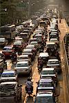 Traffic on Sathon Road, Bangkok, Thailand