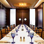Dining Room, Intercontinental Hotel, Toronto, Ontario, Canada    Stock Photo - Premium Rights-Managed, Artist: Michael Mahovlich, Code: 700-00747833