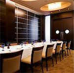 Dining Room, Intercontinental Hotel, Toronto, Ontario, Canada    Stock Photo - Premium Rights-Managed, Artist: Michael Mahovlich, Code: 700-00747834