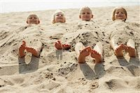 Children Buried in Sand    Stock Photo - Premium Rights-Managednull, Code: 700-00748011