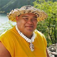 Portrait of Man, Oahu, Hawaii    Stock Photo - Premium Rights-Managednull, Code: 700-00748246