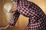 Woman with Stomach Ache    Stock Photo - Premium Rights-Managed, Artist: Steve Prezant, Code: 700-00748468