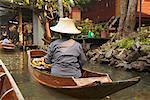 Floating Market, Damnoen Saduak, Thailand    Stock Photo - Premium Rights-Managed, Artist: Janet Bailey, Code: 700-00748506