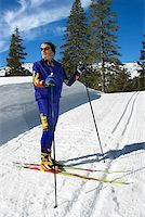 Man cross-country skiing Stock Photo - Premium Royalty-Freenull, Code: 604-00753744