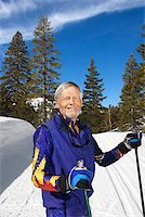 Man with skis and canteen Stock Photo - Premium Royalty-Freenull, Code: 604-00753747
