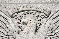 Eagle engraving on World War II Memorial Stock Photo - Premium Royalty-Freenull, Code: 604-00755634