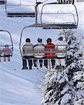 Ski Lift, Haliburton, Ontario, Canada    Stock Photo - Premium Rights-Managed, Artist: Peter Christopher, Code: 700-00768142