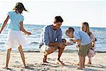 Family on Beach    Stock Photo - Premium Rights-Managed, Artist: Jerzyworks, Code: 700-00768241