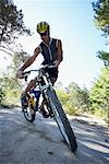 Man Mountain Biking    Stock Photo - Premium Rights-Managed, Artist: Jerzyworks, Code: 700-00768253