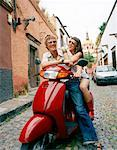 Couple on Scooter, Mexico    Stock Photo - Premium Rights-Managed, Artist: Masterfile, Code: 700-00768471