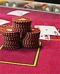 Still Life of Poker Chips And Playing Cards    Stock Photo - Premium Rights-Managed, Artist: Masterfile, Code: 700-00768639