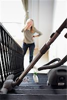 Woman Thinking about Housework    Stock Photo - Premium Rights-Managednull, Code: 700-00781914