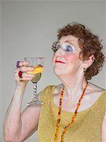 Woman Drinking Wine    Stock Photo - Premium Rights-Managednull, Code: 700-00781956