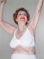Portrait of Woman in Underwear    Stock Photo - Premium Rights-Managednull, Code: 700-00781982