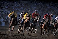Horse Racing, Calgary Stampede, Calgary, Alberta, Canada    Stock Photo - Premium Rights-Managednull, Code: 700-00782068