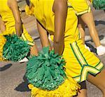 Parade of Cheerleaders and Their Pompoms