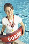 Portrait of Lifeguard at Swimming Pool Stock Photo - Premium Royalty-Free, Artist: Aflo Sport               , Code: 621-00793702