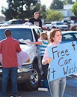 Church Youth Group Holding Car Wash Stock Photo - Premium Royalty-Freenull, Code: 621-00795279